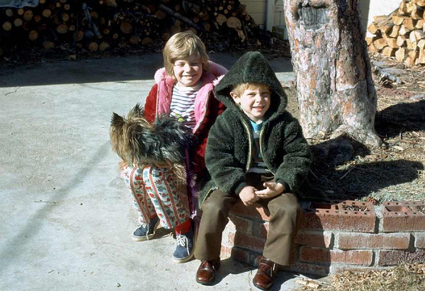 Sherrie, Silky Terrier, and David at our home on 2730 S. Washington, Englewood, CO, abpit 1970.