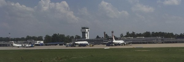 The old airline terminal in Zagreb, Croatia.