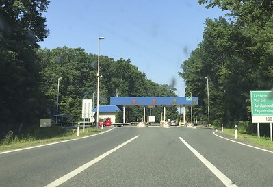 We would encounter several toll booths and border crossings during the trip.
