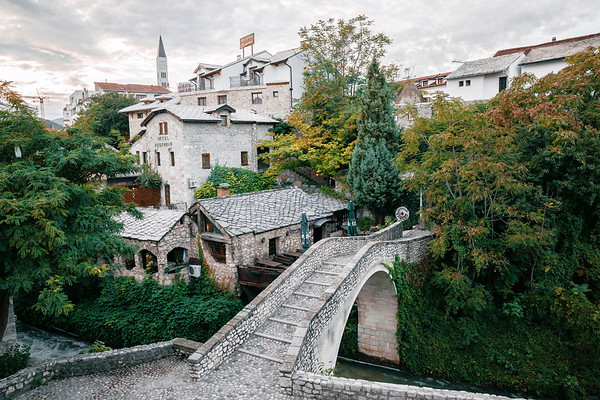 Part of the Old Town of Mostar in Bosnia.