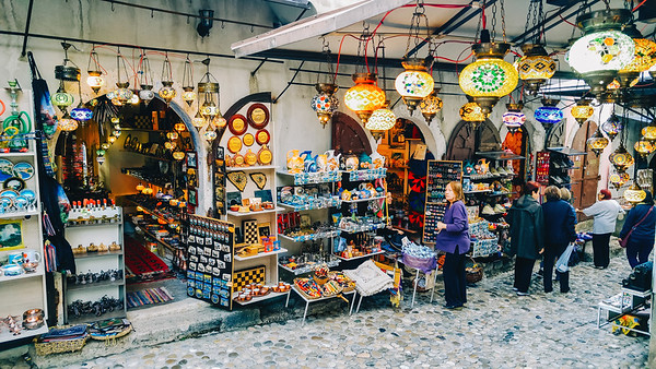 Mostar's Old Bazar Kujundziluk.