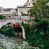 Bridge in the Old Town of Mostar in Bosnia.