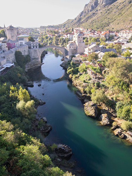 Old Town Mostar from the minaret of the Koskin-Mehmed Pasha mosque - the best view in town.