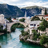 The Old Bridge in the heart of the Old City of Mostar in Bosnia