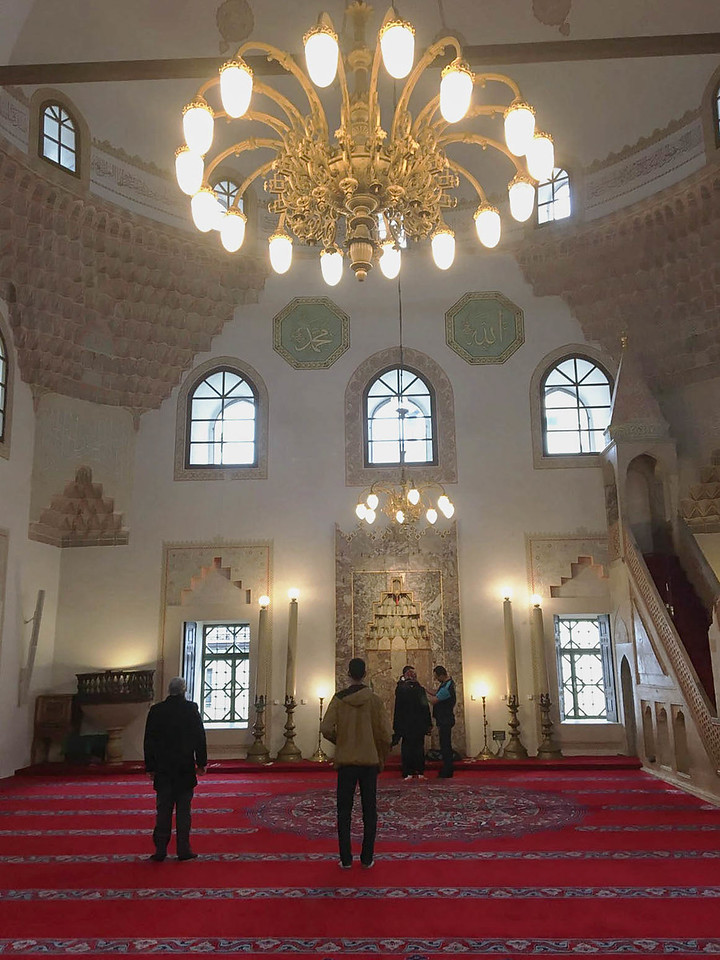 Interior of the mosque.