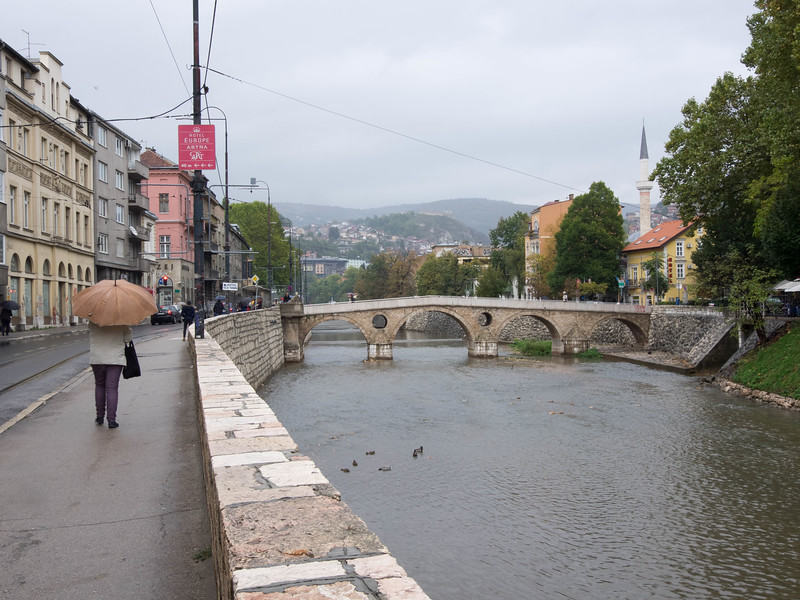 The Latin Bridge where Franz Ferdinand was assassinated, starting WWI.