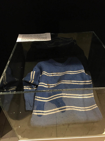 There were many sad pictures in the Historical Museum of Bosnia and Herzegovina, but this little sweater stopped me in my tracks.  It belonged to 7-yr. old Nermin Divovic who was killed by a sniper as he walked with his mother and sister.  His mother was shot by the same bullet and also died.  Why would you shoot a little kid and his mom?