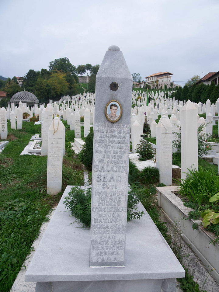 With Sarajevo surrounded and under siege, the citizens could only bury their dead at night.  They turned their city park land into cemeteries.  Everyone there was killed between '92-'95 and most were very young.