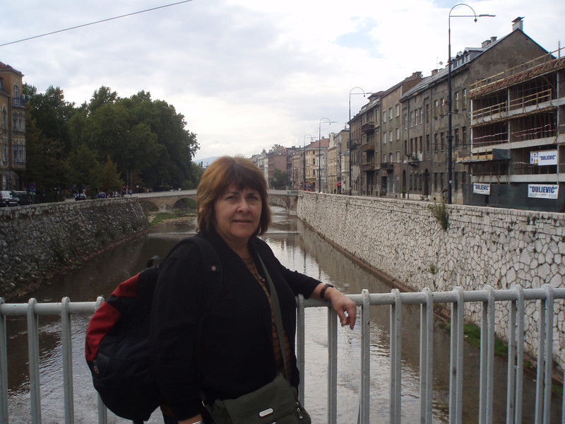 On the Latin Bridge from our hotel into the old city - it was here that Archduke Franz Ferdinand was assassinated by a Bosnian terrorist, leading to the start of World War I.