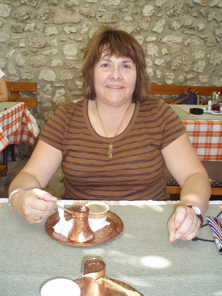 Turkish coffee in Mostar - it's strong and unfiltered, with sludge at the bottom