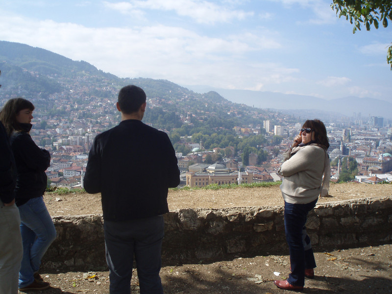 In Sarajevo, we took a tour focusing on the war years of 1992-1995.  The guide took us to a hill and showed us where the Serb snipers were located.  The siege lasted for four years.