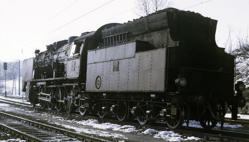 Yugoslav Rlys (JZ) 06-017, Spielfeld Strass, Austria, Sat 22 February 1975 2.  Photo by Les Tindall.