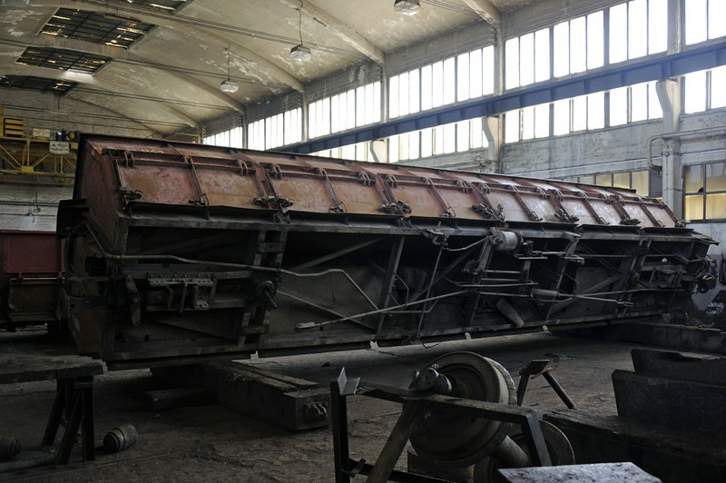 Wagons, Banovici railway works, Bosnia-Hercegovina, Wed 11 June 2014 2