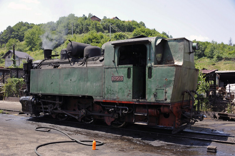 25-30, Banovici railway works, Bosnia-Hercegovina, Wed 11 June 2014.  Built in Prague by CKD (Ceskomoravska Kolben Danek) 2530 / 1949.  This was the only Czech 0-6-0T that was operational at the time of my vist