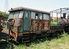 Unidentified railcar, Banovici railway works, Bosnia-Hercegovina, Wed 11 June 2014 1.  Built in Nis, Serbia, by Maskina Industrija Nis (MIN).