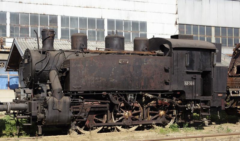 62-368, Bukinje loco shed, Tuzla, Bosnia-Hercegovina, Tues 10 June 2014.  Built for industrial use by Djuro Djakovic (368 / 1953).