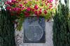 War memorial, Bukinje loco shed, Tuzla, Bosnia-Hercegovina, Tues 10 June 2014.  This memorial commemorates nine people killed in Yugoslavia's ghastly civil wars in the 1990s.  There are similar local memorials all over Bosnia-Hercegovina.  RIP.