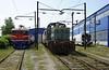 Bosnia-Hercegovina Federation Rlys (ZFBH) 441-404, 733-029 & Talgo 7D5, Rajlovac Teretna traction depot, near Sarajevo, Bosnia-Hercegovina, Fri 13 June 2014