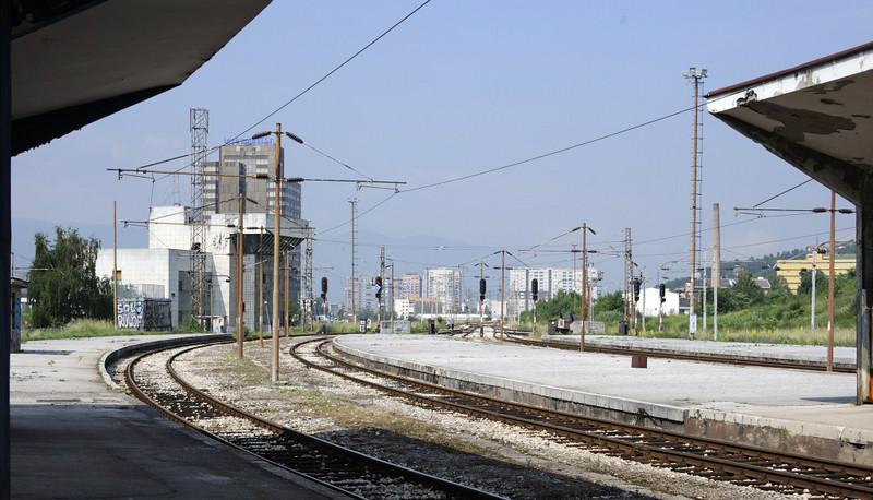 Sarajevo station, Bosnia-Hercegovina, Fri 13 June 2014 10.  Looking west towards Rajlovac.