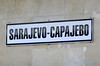 Sarajevo station, Bosnia-Hercegovina, Fri 13 June 2014 7.  The name is displayed in Latin and Cyrillic.