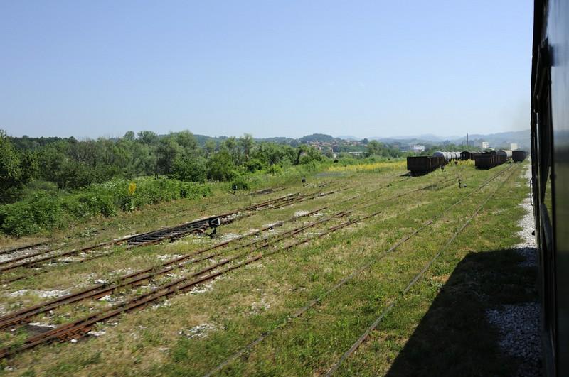 Kreka sidings, Bosnia-Hercegovina, Tues 10 June 2014 - 1038.  Looking east towards Tuzla.