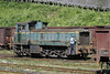 732-195, Banovici coal washery, Bosnia-Hercegovina, Tues 10 June 2014.  Six-wheel diesel-hydraulic built by Djuro Djakovic about 1969.