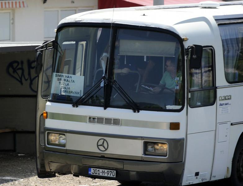 Bus stop, Tinja, between Mramor and Srebrenik, Bosnia-Hercegovina, Tues 10 June 2014