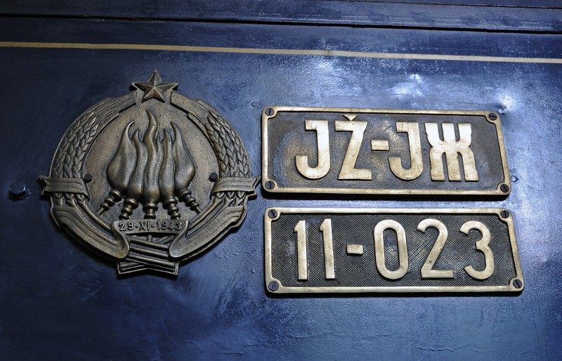 Yugoslav Railways (JZ) 11-023, Slovenian Railway Museum, Ljubljana, 8 June 2014 2.  The date 29-XI-1943 refers to a meeting of the Partisan resistance at which Tito set up a provisional government in place of the royal government in exile, thus laying the foundation for post-war communist Yugoslavia.