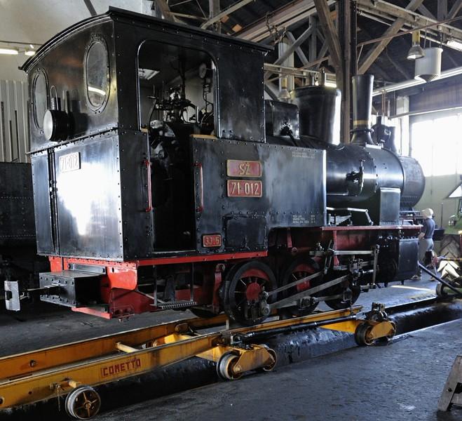 Slovenian Railways (SZ) 71-012, Slovenian Railway Museum, Ljubljana, 8 June 2014.  76cm gauge 0-6-0T built in Berlin by Orenstein & Koppel (10168 / 1922) for Yugoslavia as war reparation.  Worked for many years in the Jesenice steelworks as No 0-IX.