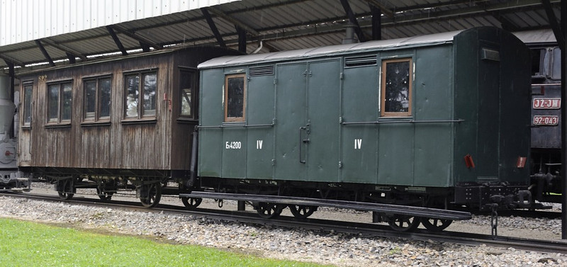 Coaches, Pozega railway museum, Serbia, Mon 16 June 2014.