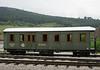 Serbian State Rlys (SDZ) 0409, Sargani Vitasi, Sun 15 June 2014.  76cm gauge restaurant car built in Graz, Austria, in 1903.