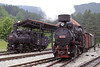 Jugoslav Rlys (JZ) 83-173 & 83-052, Sargan Vitasi, Serbia,  Sun 15 June 2014.  NB that the smokebox doors are different.
