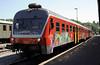 Slovenian Rlys (SZ) 814-131, Nova Gorica station, Slovenia, Sat 7 June 2014 - 1509.  Waiting to leave for Jesenice.