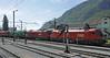 Slovenian Rlys (SZ) 541-004 & 541-001 + Austrian Rlys (OBB) 1016 030-9 & 1116 134-8, Jesenice, Slovenia, Sat 7 June 2014.  NB the water crane.