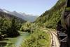 Slovenian Rlys (SZ) 33-037, approaching Bohinjska Bistrica, Slovenia, Sat 7 June 2014 - 1105