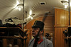 Bohinj tunnel cabaret, Slovenia, Sat 7 June 2014 1.  Our passage through the 6,339m tunnel was enlivened by a cabaret featuring an Austro-Hungarian soldier, here searching for anything suspicious, and...