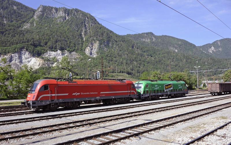 Slovenian Rlys (SZ) 541-004 & 541-001, Jesenice, Slovenia, Sat 7 June 2014