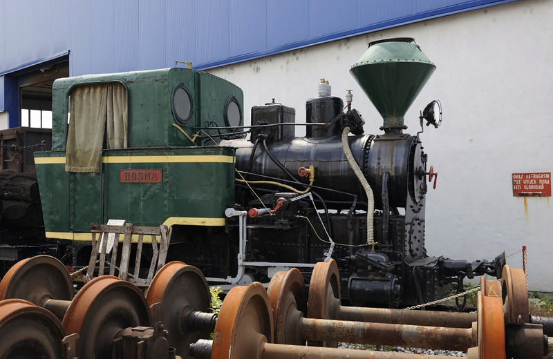 Bosna, Rajlovac traction depot, near Sarajevo, Bosnia, 13 June 2014 1.  60 cm gauge 0-6-0T built in Linz by Krauss (7498 / 1918) for the Royal Austrian Military Rly (KKhB No 129).  Spent its life on a forestry railway in Bosnia.