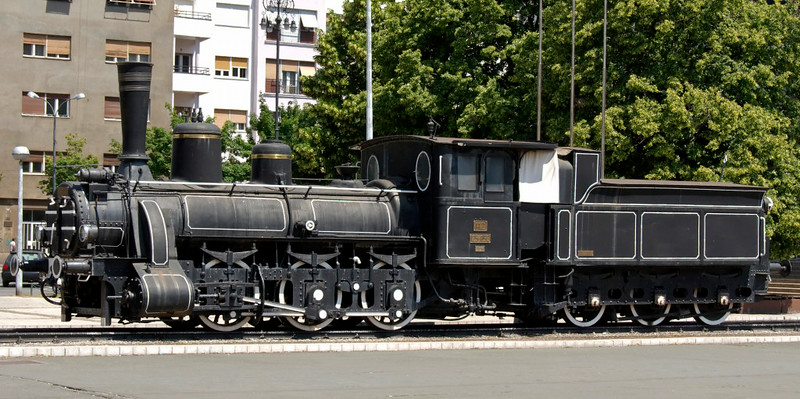 Croatian Rlys (HZ) 125-052, Zagreb station, Croatia, 23 May 2009.  Before Yugoslavia was established after the First World War. Croatia was part of the Austro-Hungarian Empire, and this loco was a member of MAV (Hungarian State Railways) class 326.  Some 500 of these long-lived 0-6-0s were built between 1882 and 1897, many in Budapest including this (653 / 1894).