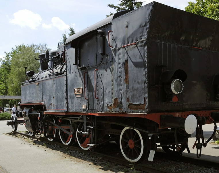 Yugoslav Rlys (JZ) 51-133, outside Vinkovci station, Croatia, 9 June 2014 2