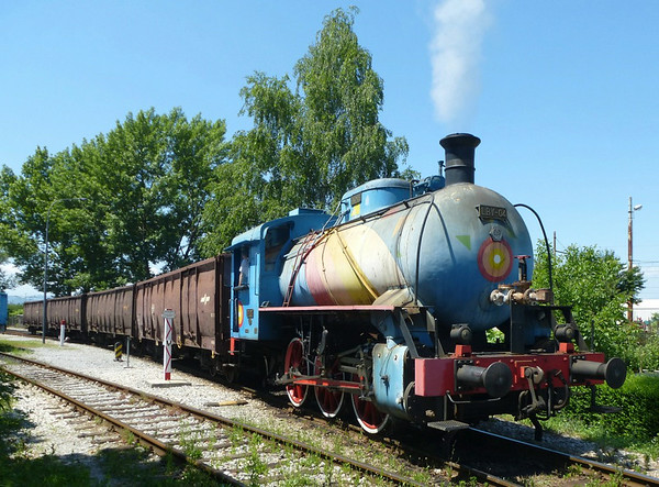 LBV-04, Ljubljana power station, Slovenia, 8 June 2014 1.  Fireless 0-6-0T built by Djuro Djakovic, details unknown.  This is still in industrial not heritage use.  Photo by Dave Scudamore.