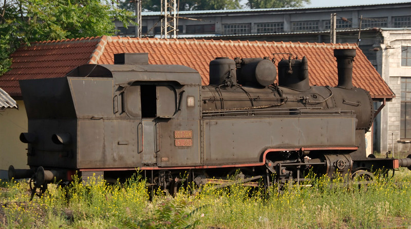 Yugoslav State Rlys (JDZ) 51-052, outside Belgrade station, Serbia, 25 May 2009.  Hungarian State Railways (MAV) class 375 2-6-2T built by Budapest Loco Works (43 / 1917).  Has been operational in recent years.  Photographed from a Belgrade - Sofia train.
