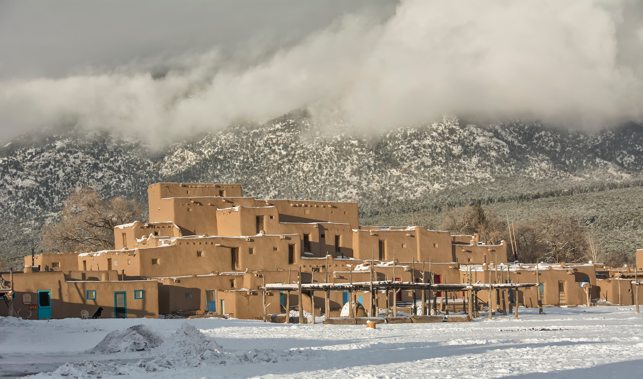 Taos Pueblo and mountains_BSQ_5495