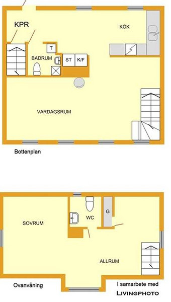 This image is courtesy of Göranson & Ask real estate agent and is taken BEFORE we bought it. Thus, the furnitures are not ours.