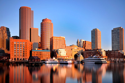 Golden Light on Boston Skyline