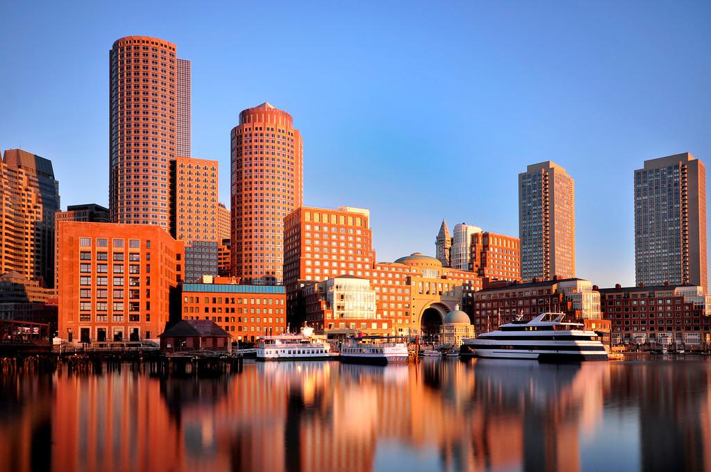 Golden Light on Boston Skyline