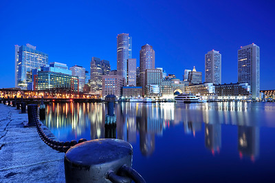 Boston Harbor at Sunrise