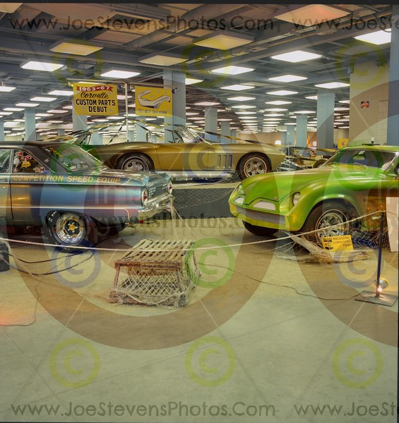 1963-67 Corvette Custom Parts Debut (upper middle).  The Rag Doll (front left)