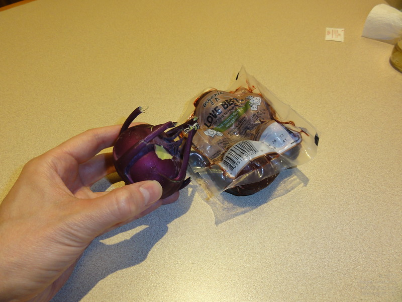 Not everything is bigger in America: Kohlrabi and Red Beet