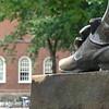 John Harvard's toe tip